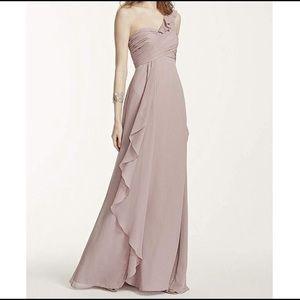 One shoulder Vera Wang Bridesmaids Dress